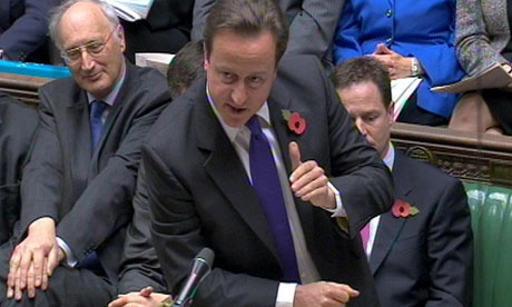 David Cameron in the House of Commons