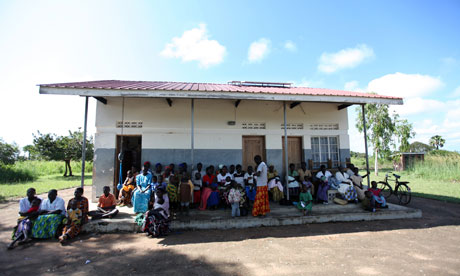 Ojom health centre in Katine