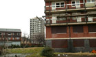 flats in a deprived area in UK