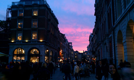 Covent Garden in central London. Photograph: Paul Owen