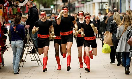 A Spanx publicity stunt outside Selfridges.