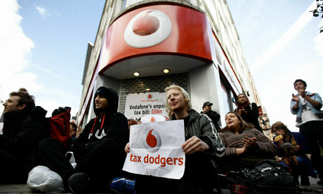 Vodaphone Tax Bill protest