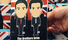 Novelty greeting card depicting Ed and David Miliband at Tory conference in Birmingham