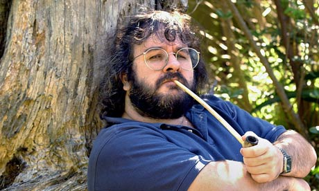 Peter Jackson relaxing in New Zealand after filming The Lord of the Rings