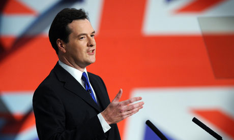 Chancellor George Osborne addresses the Annual Conservative Party Conference