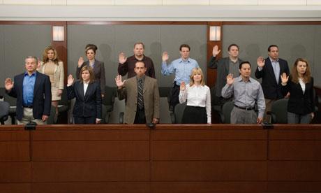 Jury being sworn in