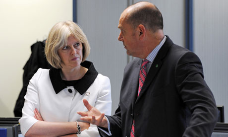 Theresa May and Jim Gamble