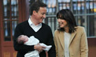 David Cameron and wife Samantha with their baby daughter Florence