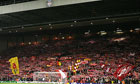 Anfield's Kop in full voice