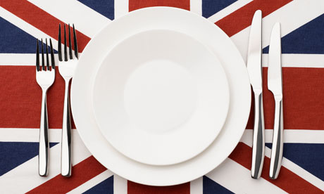 Union Jack place setting