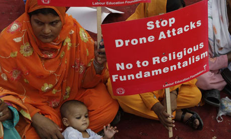 Protest against drone attacks