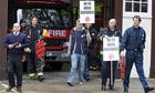 Firefighters in Euston go on strike