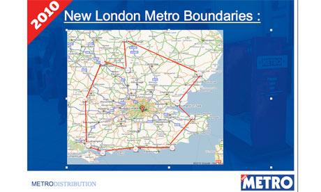 Metro's planned 'London' distribution area