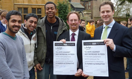 Lib Dems sign pledge with top students