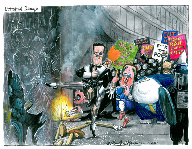 A Guardian cartoon of the National Demonstration.