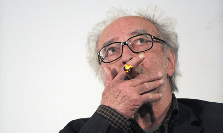 Godard in 2010, still smoking (Photo credit: Miguel Medina/AFP/Getty Images)
