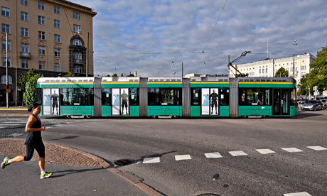 The Finnish capital has 12 tram lines and six more on the way