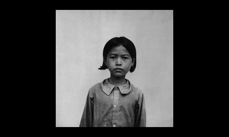 Unidentified child prisoner of the Khmer Rouge before execution at the Tuol Sleng torture centre