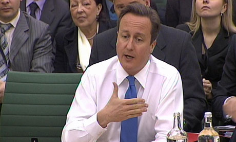 David Cameron at the liaison committee on 18 November 2010.