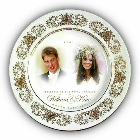 william kate wedding plate. Kate and William Wedding: A