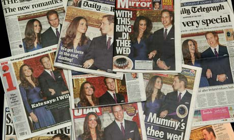 royal wedding headlines. Royal Wedding newspapers
