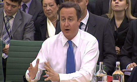 Prime Minister David Cameron speaks at the Liaison Committee at the House of Commons, London.