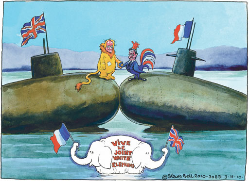03.11.2010 Steve Bell cartoon