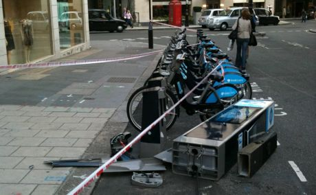 London cycle hire accident