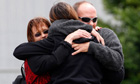 New Zealand mine explosion: family members comfort each other