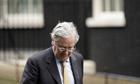 Bank of England governor, Mervyn King, outside 10 Downing Street
