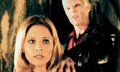 Sarah Michelle Gellar as Buffy and James Marsters as Spike in Buffy the ...