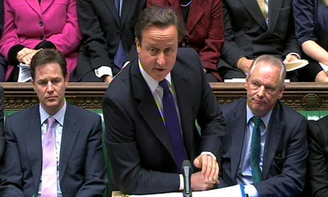 David Cameron at PMQs on 24 November 2010.