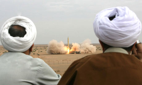 A test in Iran during 2006 of the Shahab-3 missile, built with North Korean technology
