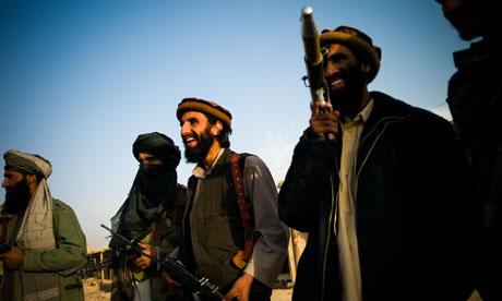 Taliban fighters in Dhani Ghorri