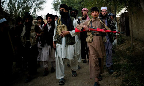 Taliban fighters in Dhani-Ghorri