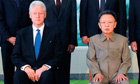 Bill Clinton and Kim Jong-il in an official photo taken in August 2009