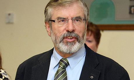 Gerry Adams, whose Sinn Féin party is on couse for victory in Donegal South West