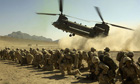 Chinook helicopters in Afghanistan