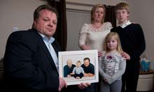 Gary Collinson and family