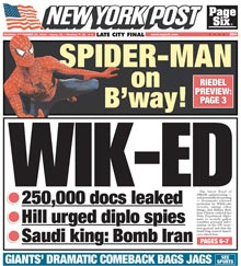 new-york-post-wikiLeaks