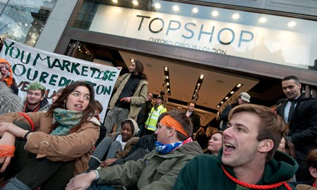 London protest at Arcadia owner Philip Green