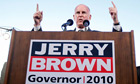 California governor-elect Jerry Brown, pictured while campaigning for the 2010 US midterms