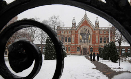 Snow at Dulwich College in London on 30 November 2010.