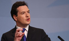 George Osborne speaking at the Conservative conference