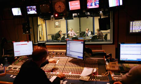 John Humphrys in the studio of the the Today programme