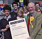 Sir Menzies Campbell with his pledge to oppose any increase in tuition fees.