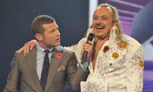 Dermot O'Leary and Wagner on The X Factor