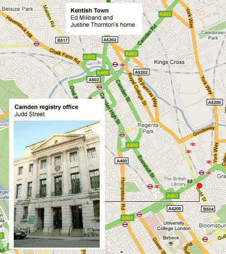 Camden registry office map