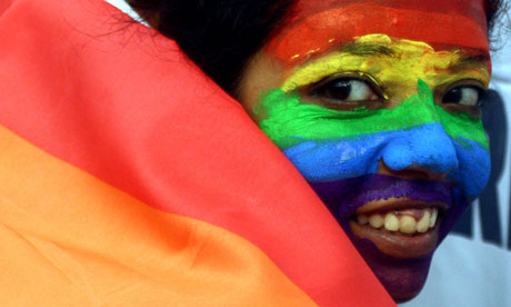 A gay rights activist in India