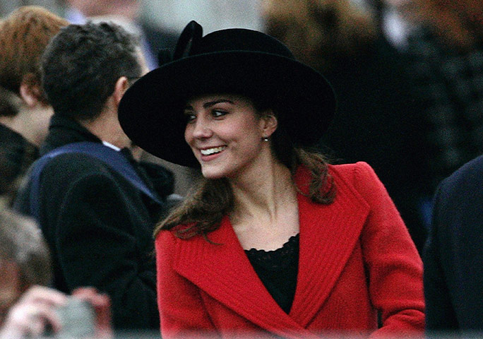 Kate Middleton &amp; William: Kate Middleton smiles during the Sovereign's Parade at Sandhurst